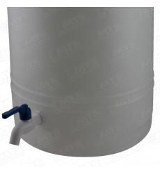 BIDON PLASTICO B/ANC.C/LLAVE 25LT