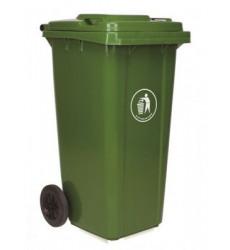 Contenedor Basura C/tapa 120lt Verde