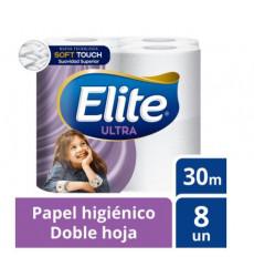 Papel Higien. Elite Dob.hoja(8 Rollos)