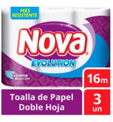 Toalla Nova Evolution 16mt (3 Rollos)